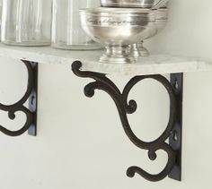 katie rusch design: Marble Shelves: A Pottery Barn Knock-Off Bath Furniture, Decor, Marble Shelf, Shelves, Pottery Barn, Decorative Shelf Brackets, Home Decor, Wall Candle Holders, Entryway Tables