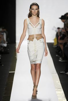 Herve Leger By Max Azria - Spring Ready-to-Wear 2014 University Style, Max Azria, Herve Leger, Spring 2014, Corset, Ready To Wear, Runway, Two Piece Skirt Set, York