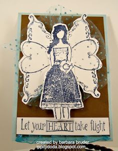 ANGIE GIRL - Dream with your HEART -STAMP IMAGE available at www.unitystampco.com - project created by {ippity} chick Barbara Bruder