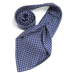 Petronius 1926 italian handmade navy with white dots 5 fold silk tie 8,5 cm ( art. 481 ), $149