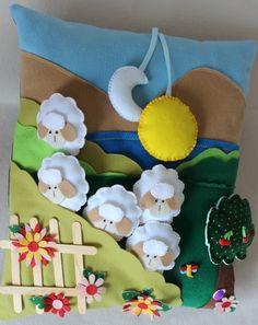 Cute ! ~ Lost sheep cushion - Almofada Ovelha Perdida by Lilian Janine ~