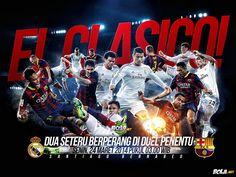 Bola.net: Download Wallpaper - Real Madrid vs Barcelona
