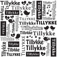 Nellie Snellen Embossing Folder - Dansk Tekst / Tillykke