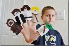 Star Wars felt finger puppets