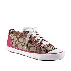 I have these in brown/white! I love my coach shoes!! :)