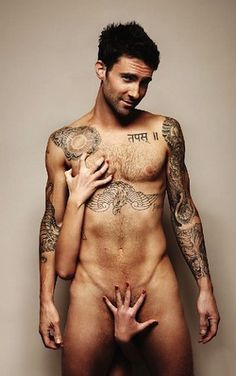 Adam Levine can get naked to raise awareness for cancer any day...or every day <3