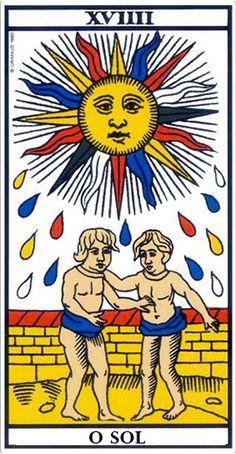 Le soleil - Tarot of Marseille Tarot Gratis, Divination Cards, Tarot Cards, O Sol Tarot, Tarot Oui Non, Tarot Astrology, Tarot Major Arcana, Tarot Card Meanings, Oracle Cards