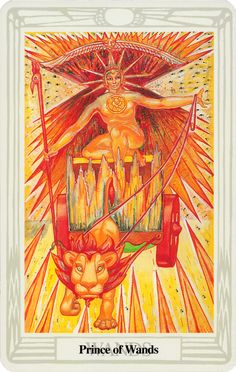 Belle Constantinne - Prince of Wands -  The Thoth Deck by Aleister Crowley