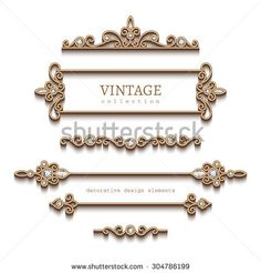 Vintage gold jewelry vignettes and dividers, vector set of decorative jewellery design elements on white background, Golden Jewelry, Ruby Jewelry, Swarovski Jewelry, Gemstone Jewelry, Silver Jewelry, Ornament Drawing, Damask Stencil, Photo Images, Wedding Name