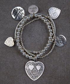 Heart II Trio of Bracelets – Zen Sisters Jewelry