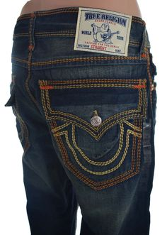 01a2bb482 True Religion Mens Jeans Size 36 Straight w  Flaps Mega T OM in Warpath NWT