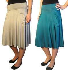 Knit Pocket Skirt [S1292] - $35.00 :: DCM Apparel - Modern Modest Clothing - Will be available on/about 5/17/12