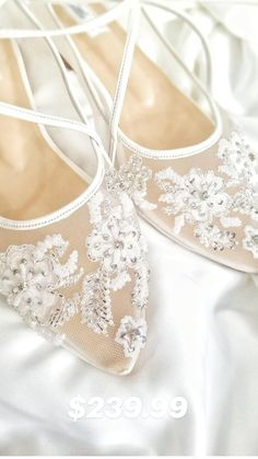 Sparkly Wedding Shoes, Wedding Boots, Wedding Shoes Heels, Bride Shoes, Ivory Wedding, Bridal Flats, Wedding Pins, Wedding Flowers, Designer Wedding Shoes