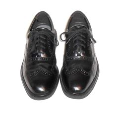 Rockport Capital Men's Black Leather Wing Tip Oxford Shoe Size 9.5 M #Rockport #WingTipOxford