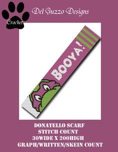 (4) Name: 'Crocheting : TMNT Donatello Scarf CROCHET GRAPH