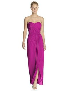 Shop Dessy Bridesmaid Dress - 2882 in Lux Chiffon at Weddington Way. Find the perfect made-to-order bridesmaid dresses for your bridal party in your favorite color, style and fabric at Weddington Way. Lavender Bridesmaid Dresses, Bridesmaid Dress Styles, Dessy Bridesmaid, Bridesmaid Ideas, Blue Bridesmaids, Chiffon Maxi Dress, Strapless Dress Formal, Formal Dresses, Dresser