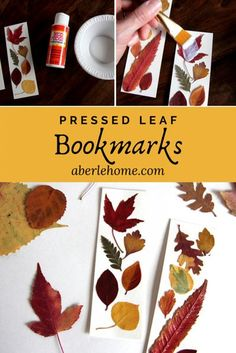 These pressed leaf bookmarks are such an easy fall nature craft! A beautiful way to preserve and enjoy the leaves you press in autumn! Make one and gift one to a friend! #aberlehome #homeschool #naturestudy #autumn #fall Easy Fall Crafts, Easy Crafts For Kids, Kid Crafts, Holiday Crafts, Paper Crafts, Bookmark Craft, Bookmarks Kids, Leaf Projects, Diy Projects