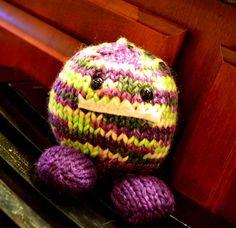 Knitted Stufffed Monster Chunk (Rebecca Danger)