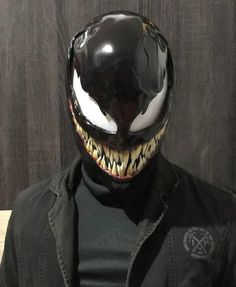 This Venom Mask based on Venom 2018 Movie Made from resin fiberglassThis is adult size and fit to all headsize upto 60 cmthis fan made and not affiliate with MARVEL Helmet Design, Mask Design, Futuristic Helmet, Fish Mask, Armadura Cosplay, Custom Motorcycle Helmets, Biker Helmets, Women Motorcycle, Fiberglass Resin