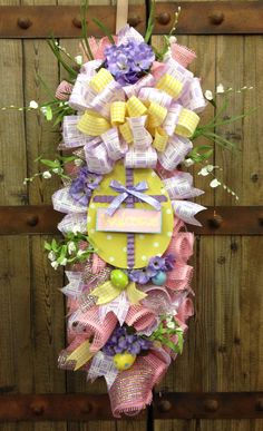 Easter swag by WilliamsFloral on Etsy, $80.00