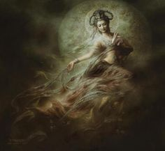 Ch'ang O : Chinese goddess of the moon. Themes are the moon, relationships, purity, devotion, instinct, growth, manifestation. Symbolized by all lunar items.