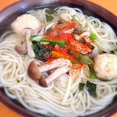 日曜日の朝は麺類…  今週はにゅうめん  いただきます… - 91件のもぐもぐ - にゅうめん by ishida0288