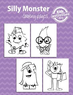 Monster Coloring Pages for Kids - http://kidsactivitiesblog.com/47593/monster-coloring-pages-for-kids