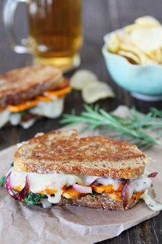 Sweet Potato and Kale Grilled Cheese Recipe #recipe #comfortfood