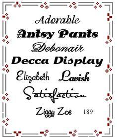 Pretty Font Series 189 - Instant download Pretty Fonts, Etsy, Beautiful Fonts, Cute Fonts
