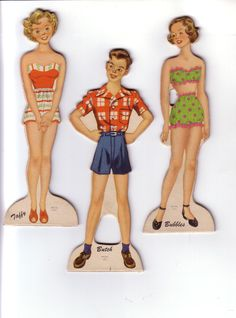 The Gang 1949  Paper Dolls