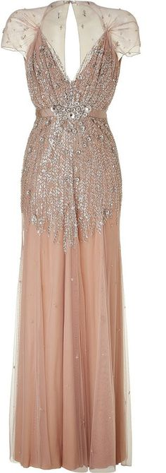 Circa 1920s. Sequined Blush Pink Gown  If I was a star.... I'd be wearing this!!! :D