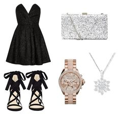 """""""Black"""" by witapranata-1 on Polyvore featuring River Island and Nine West"""