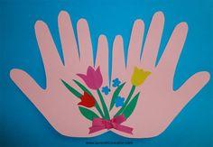 em cartolina Toddler Crafts, Toddler Activities, 8 Martie, Paper Flowers, Origami, Valentines, Scrapbook, Education, Spring