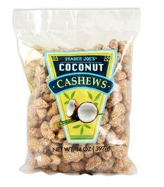 Trader Joe's Coconut Cashews $6.99 | #traderjoes #Coconut #Cashews #トレーダージョーズ