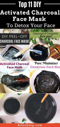 11 easy DIY charcoal mask recipes to treat stubborn acne, blackheads, whiteheads and oily skin. The charcoal face mask exfoliates, removes excess oil, dead skin cells from the skin. Also, get some effective charcoal peel off mask to get clear and smooth skin. Check out how to make these activated charcoal masks at home to detoxify your skin. #TumericMask Homemade Charcoal Mask, Charcoal Face Mask Peel, Activated Charcoal Face Mask, Face Mask Peel Off, Charcoal Mask Peel, Face Peel, Peeling Maske, Diy Masque, Face Scrub Homemade