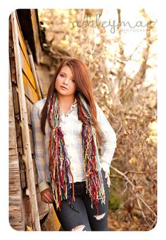 Senior Pictures Accessories Scarf - Boho Fashion Fringe O Rama is also Colorful Photo Prop. Graduates Photography Prop. This Bohemian fringe only, all fringe, all the time, fringe galore, handtied photography prop scarf design is Crickets' newest line of U Pick 'Em scarves! Wow--so cozy and soft with over 50 different muted, nature, garden and forest colors (a few of the exact yarns may vary slightly from those shown as my yarn supply is constantly evolving).