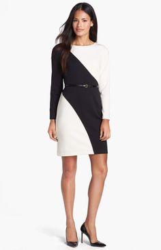 Love this: Colorblock Ponte Knit Sheath Dress @Lyst