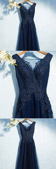 Only $109, Gorgeous Navy Blue Long Prom Dress Cheap With Sequin Lace #MYX18092 at #SheProm. SheProm is an online store with thousands of dresses, range from Prom,Formal,Party,Bridesmaid,Blue,Navy,A Line Dresses,Long Dresses and so on. Not only selling formal dresses, more and more trendy dress styles will be updated daily to our store. With low price and high quality guaranteed, you will definitely like shopping from us. Shop now to get $10 off!