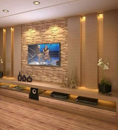 Nice 149 Perfect TV Wall Ideas That Will not Sacrifice Your Look Modern Tv Room, Modern Tv Wall Units, Modern Wall, Wall Unit Designs, Living Room Tv Unit Designs, Tv Cabinet Design, Tv Wall Design, Home Room Design, Home Interior Design