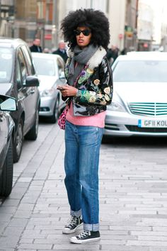 Julia Sarr-Jamois at London Fashion Week