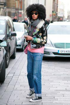 Julia Sarr-Jamois at London Fashion Week