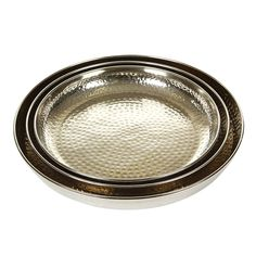 Discover the Pols Potten Nickel Hammered Tray - Set of 3 at Amara