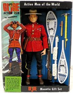 jOE Action Men of the World; Mountie with uniform & gear in window box set Retro Toys, Vintage Toys, Gi Joe 1, Sci Fi Horror, Military Diorama, Army Men, Barbie And Ken, Classic Toys, Old Toys