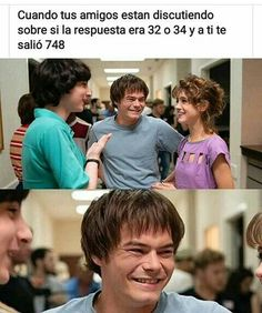 Read 47 from the story Stranger Things Memes by STeggos (u�ɹ�Ʞ) with reads. Stranger Things Funny, Stranger Things Netflix, Stranger Things Season, Funny Spanish Memes, Spanish Humor, Funny Memes, Saints Memes, Lgbt, New Memes