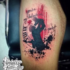 trash polka tattoo custom tattoo Vintatts tattoo shop Athens Greece.