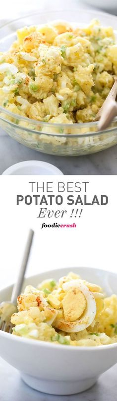 This is my mom's famous recipe for Potato Salad and one of my most popular recipes ever | http://foodiecrush.com