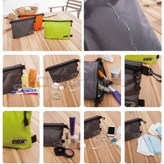 MX - Travel Cosmetic Makeup Toiletries Organizer Bag Zipper Storage Handbag AU