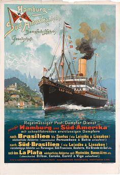 HSDG Hamburg Südamerikanische DG. Buque Cap Frío (1900)