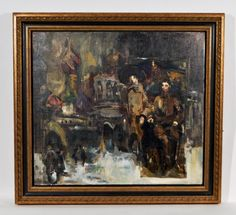 Lot # : 269 - RUSSIAN MODERNIST OIL PAINTING