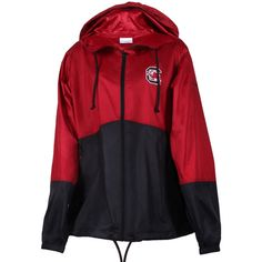 Columbia Sportswear Women's Flash Forward Windbreaker Sc Beet - L ($64) ❤ liked on Polyvore featuring activewear, mult and columbia sportswear